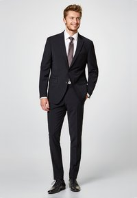 Esprit Collection - ACTIVE SUIT AUS WOLL-MIX - Pantaloni eleganti - black - 1