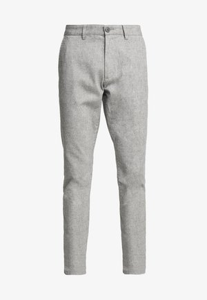 BRUSHED - Trousers - grey