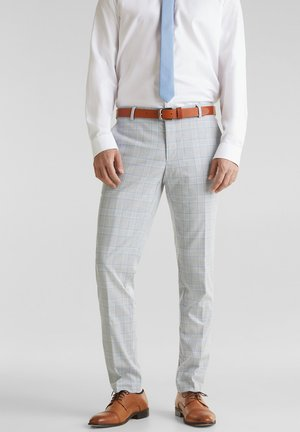 SUMMER CHECK PANTS - Trousers - light blue