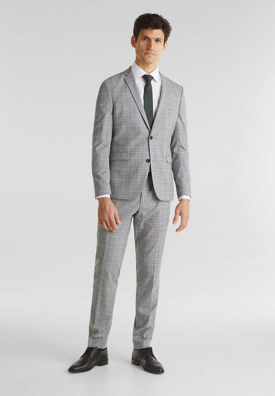 Esprit Collection 3-piece Mix+match: Glencheck-hose - Kostymbyxor Light Grey