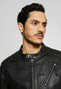 Esprit Collection - BIKER - Leather jacket - black - 4