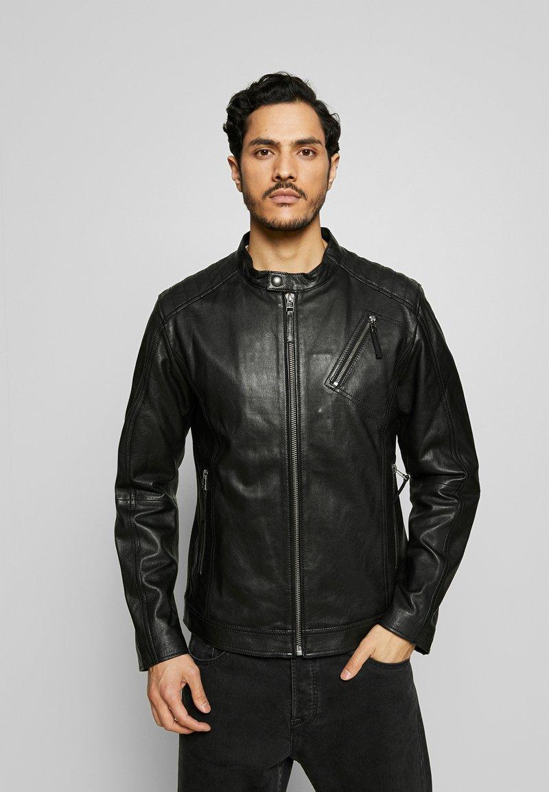 Esprit Collection - BIKER - Skinnjacka - black