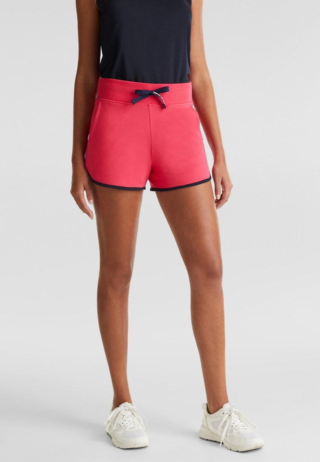 JERSEY-SHORTS MIT KONTRASTEN - Sports shorts - berry red