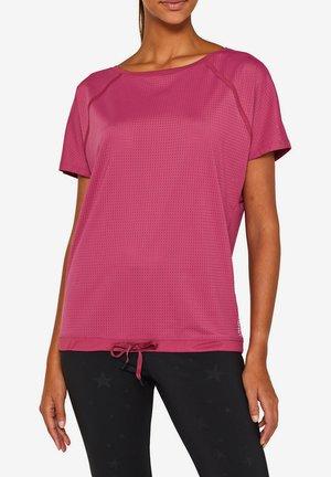 MIT TUNNELZUG - T-shirt basique - plum red
