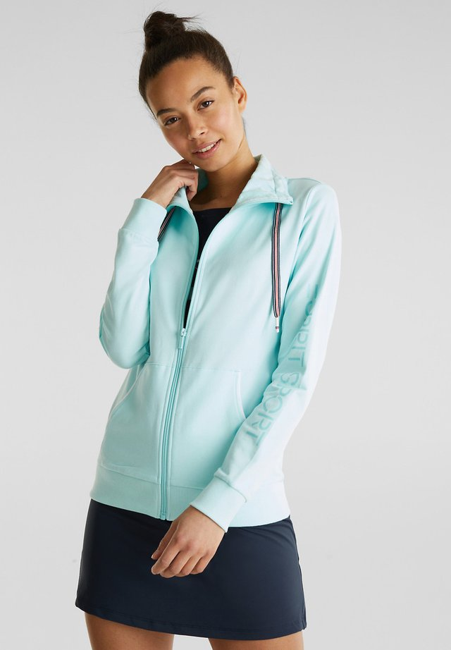 MIT TUNNELKRAGEN - Zip-up hoodie - turquoise