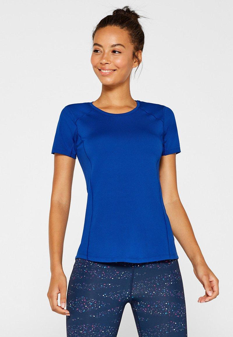 Esprit Sports - MIT ZIERNÄHTEN - Basic T-shirt - bright blue