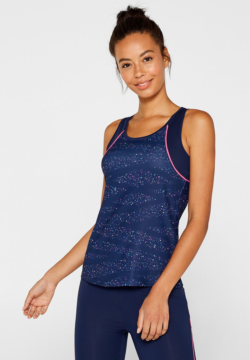 Esprit Sports - MIT MESH-DETAILS - Top - navy