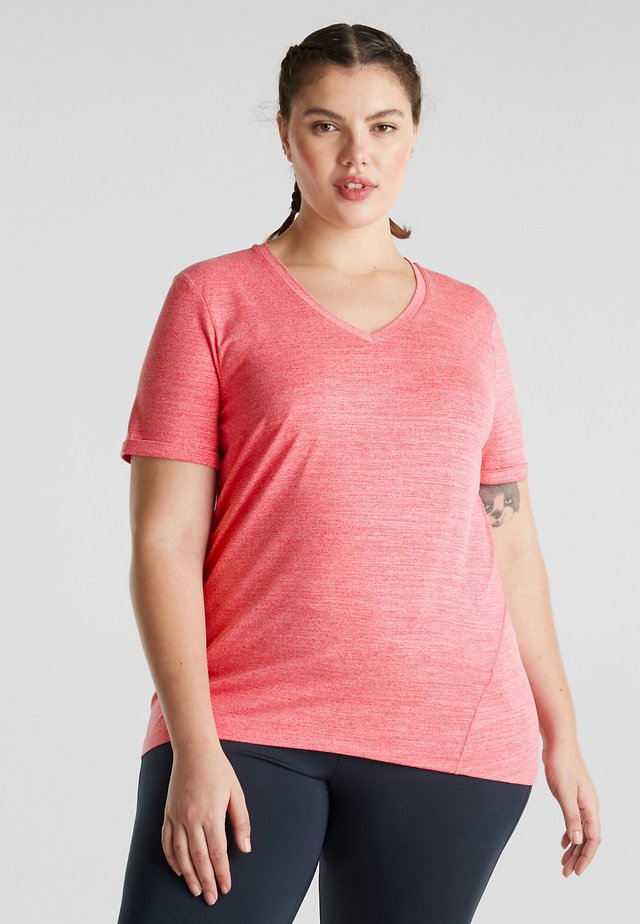 MIT SCHMEICHELNDEN ZIER - T-Shirt basic - berry red
