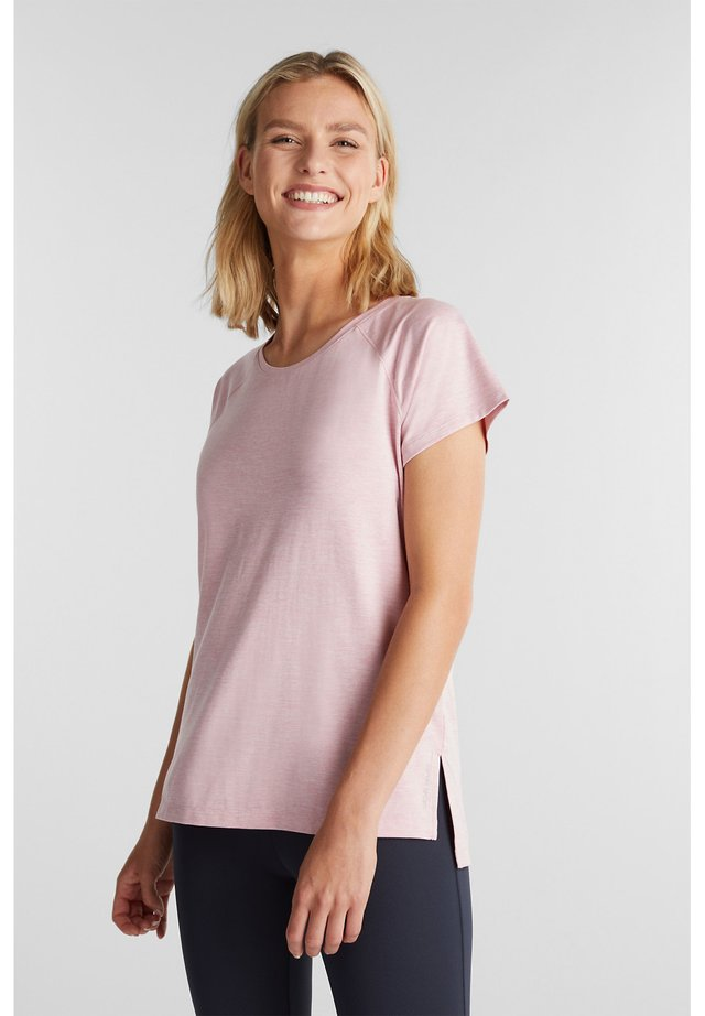 MIT E-DRY - T-shirts basic - light pink