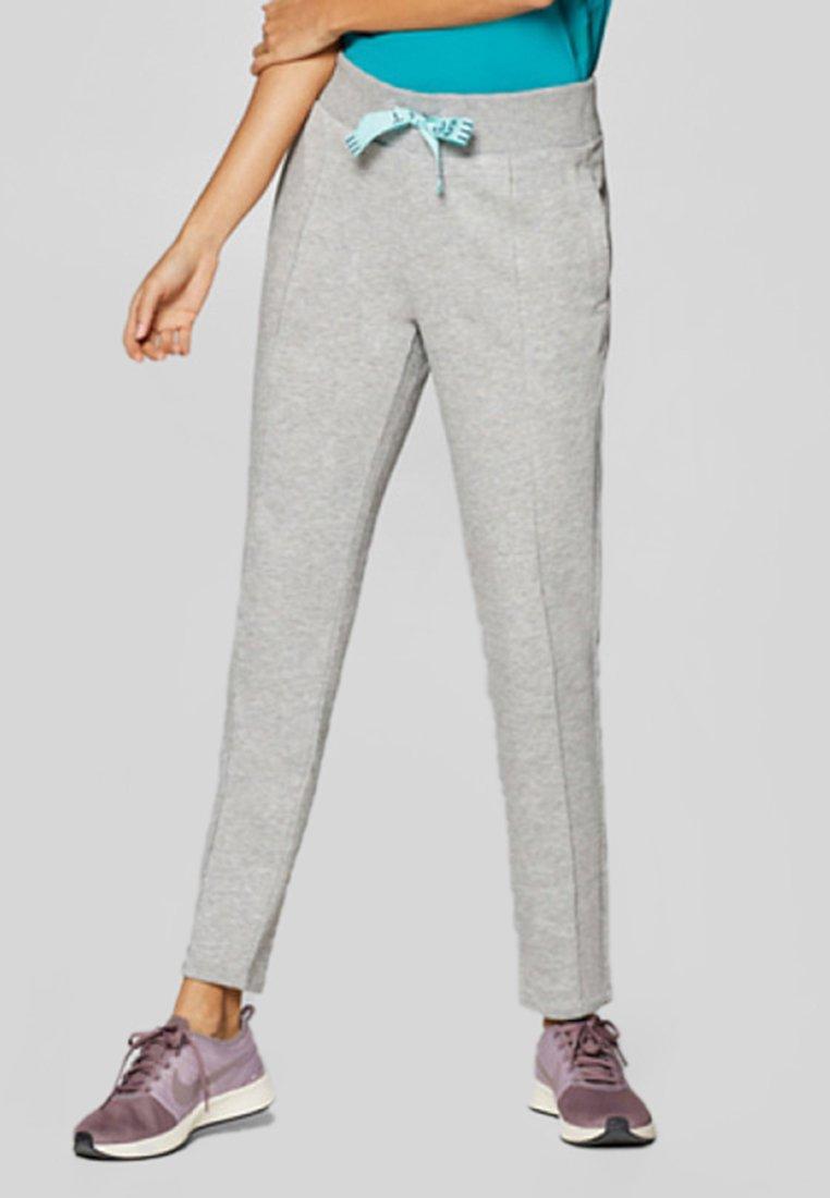 Esprit Sports - MIT BREITEM DURCHZUGBAND - Stoffhose - light grey