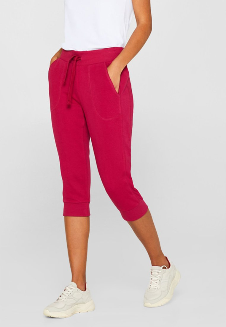 Esprit Sports - MIT LOCHMUSTER - 3/4 sports trousers - cherry red