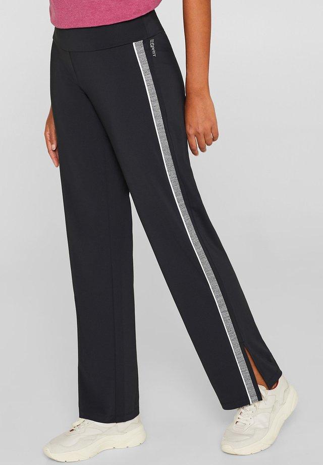 MIT RACING STREIFEN - Trousers - black