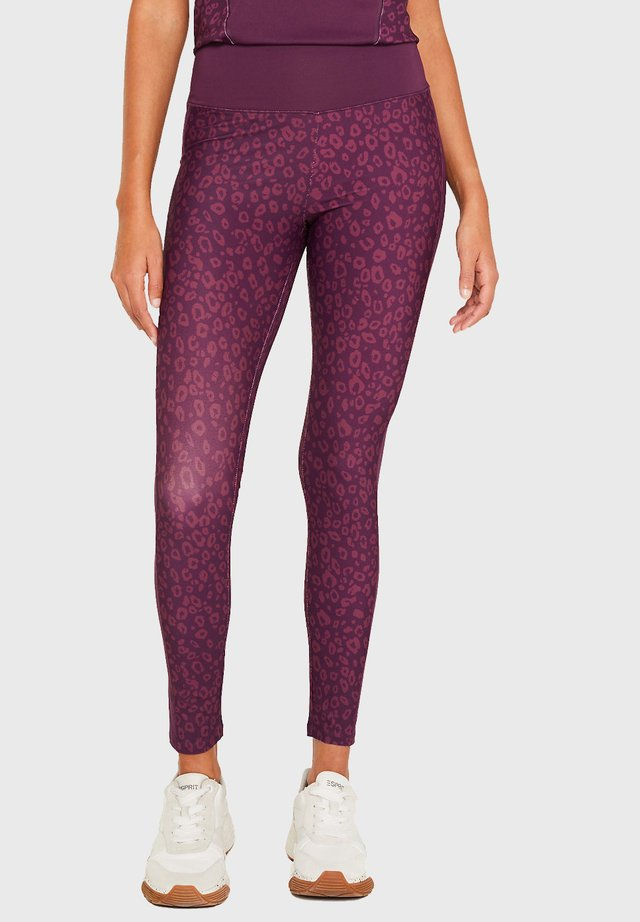 MIT LEO-PRINT - Leggings - purple