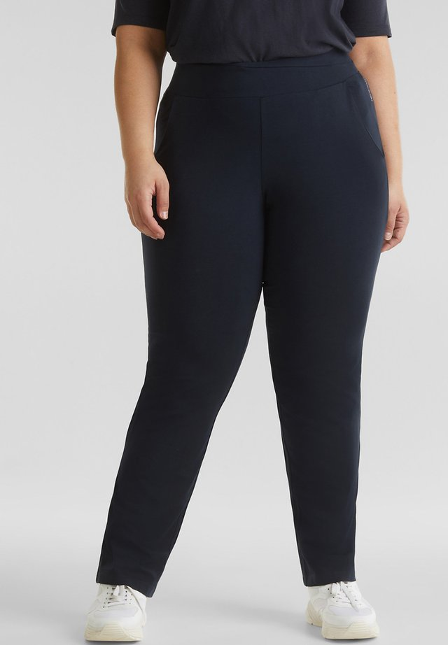 NEW YEAR. NEW ME. STRETCH-PANTS MIT GERADEM BEIN - Träningsbyxor - navy