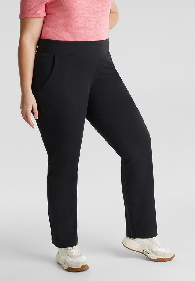 NEW YEAR. NEW ME. STRETCH-PANTS MIT GERADEM BEIN - Tracksuit bottoms - black