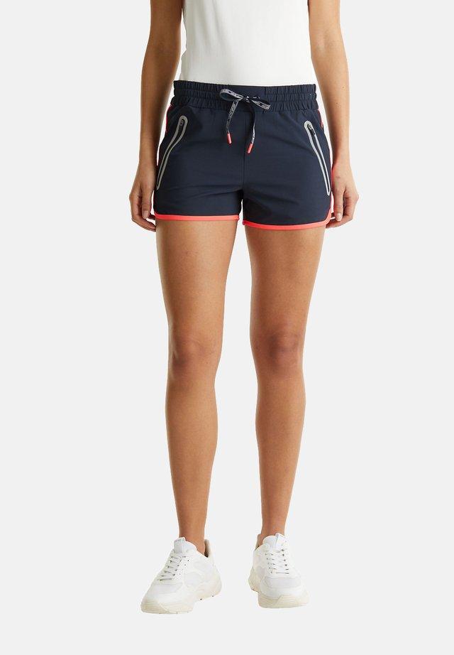 MIT LEUCHTENDEN BLENDEN, E-DRY - Sports shorts - navy
