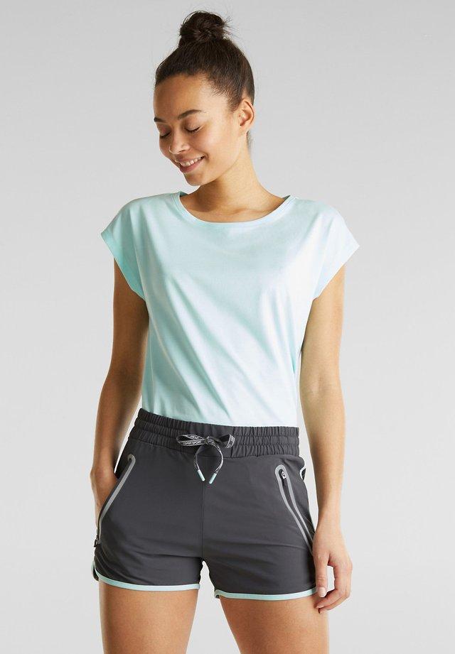 MIT LEUCHTENDEN BLENDEN, E-DRY - Sports shorts - anthracite