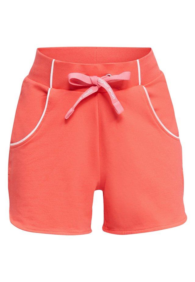 SWEAT-SHORTS MIT PASPELN - Shorts - coral
