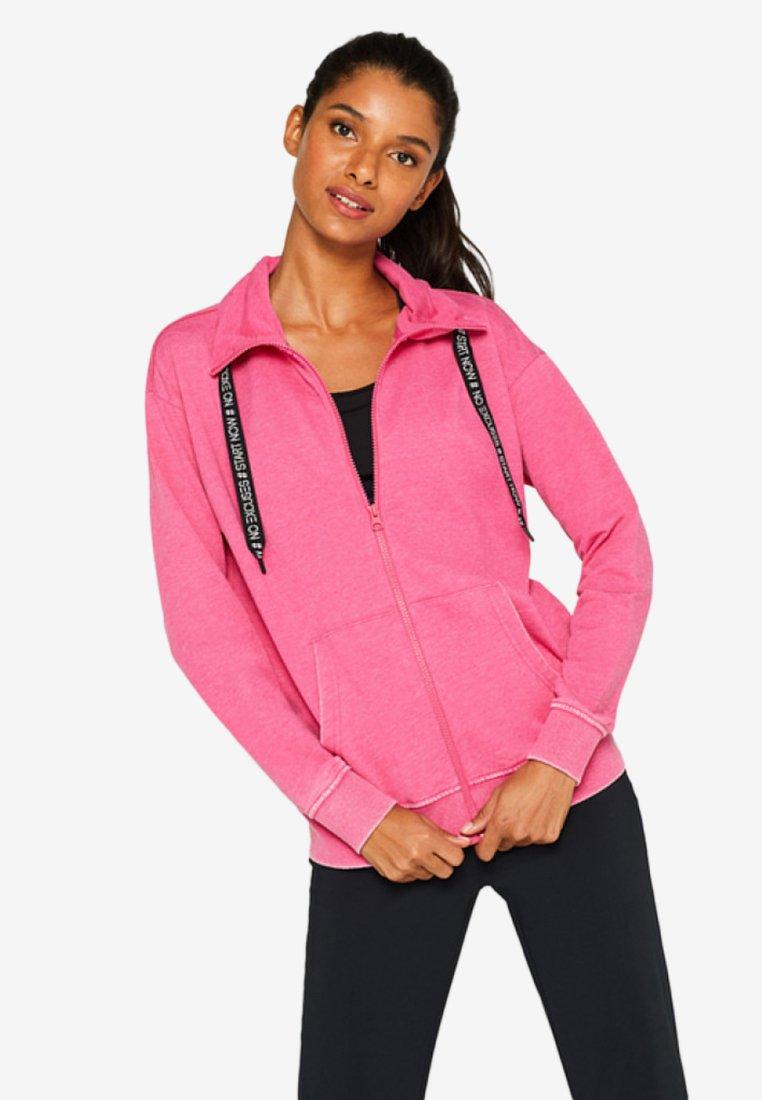 Esprit Sports - Sweatjacke - mottled pink