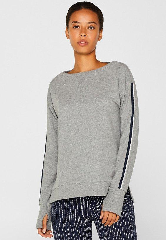 Esprit Sports - MIT GLITZER-WEBBAND - Sweatshirt - medium grey