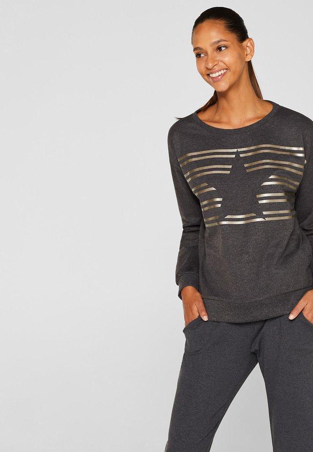 MIT GLANZ - Sweatshirt - anthracite