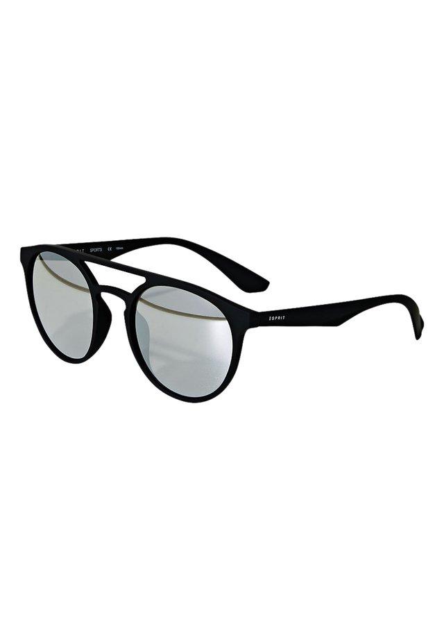 SONNENBRILLE MIT VERSPIEGELTEN GLÄSERN - Solglasögon - black