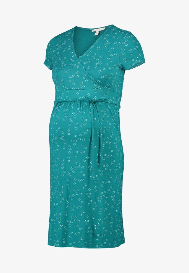 Korte jurk - teal green