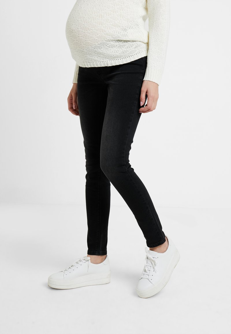 Esprit Maternity - Slim fit jeans - black darkwash