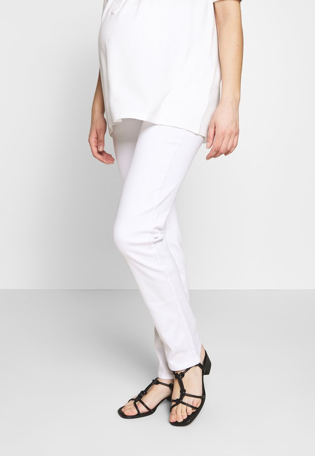 PANTS - Straight leg jeans - white