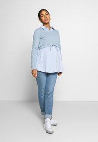 Esprit Maternity - PANTS - Jeans Slim Fit - blue grey wash - 1