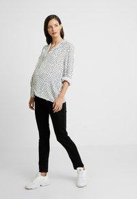 Esprit Maternity - PANTS SLIM - Straight leg jeans - black - 1
