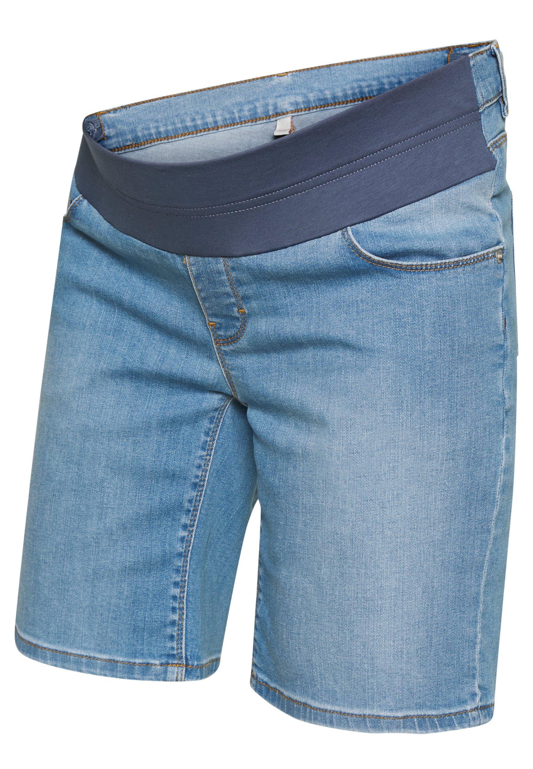 Esprit Maternity Szorty jeansowe - lightwash