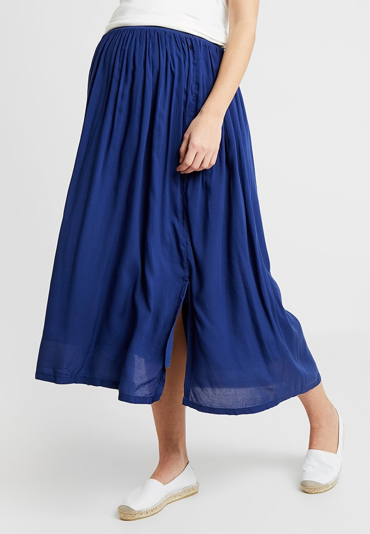 Esprit Maternity - SKIRT LONG - Plisovaná sukně - dark blue