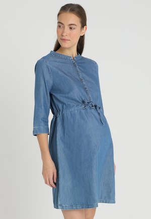 DRESS - Denim dress - bright blue