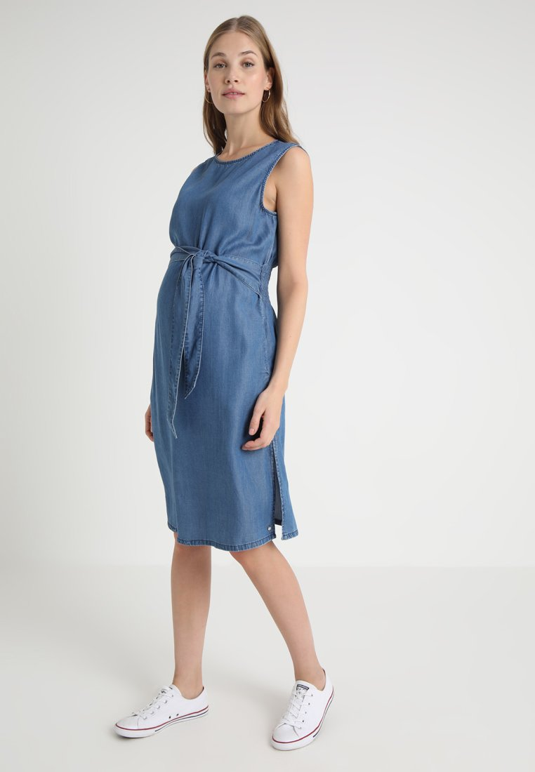 Esprit Maternity - DRESS - Denimové šaty - light blue