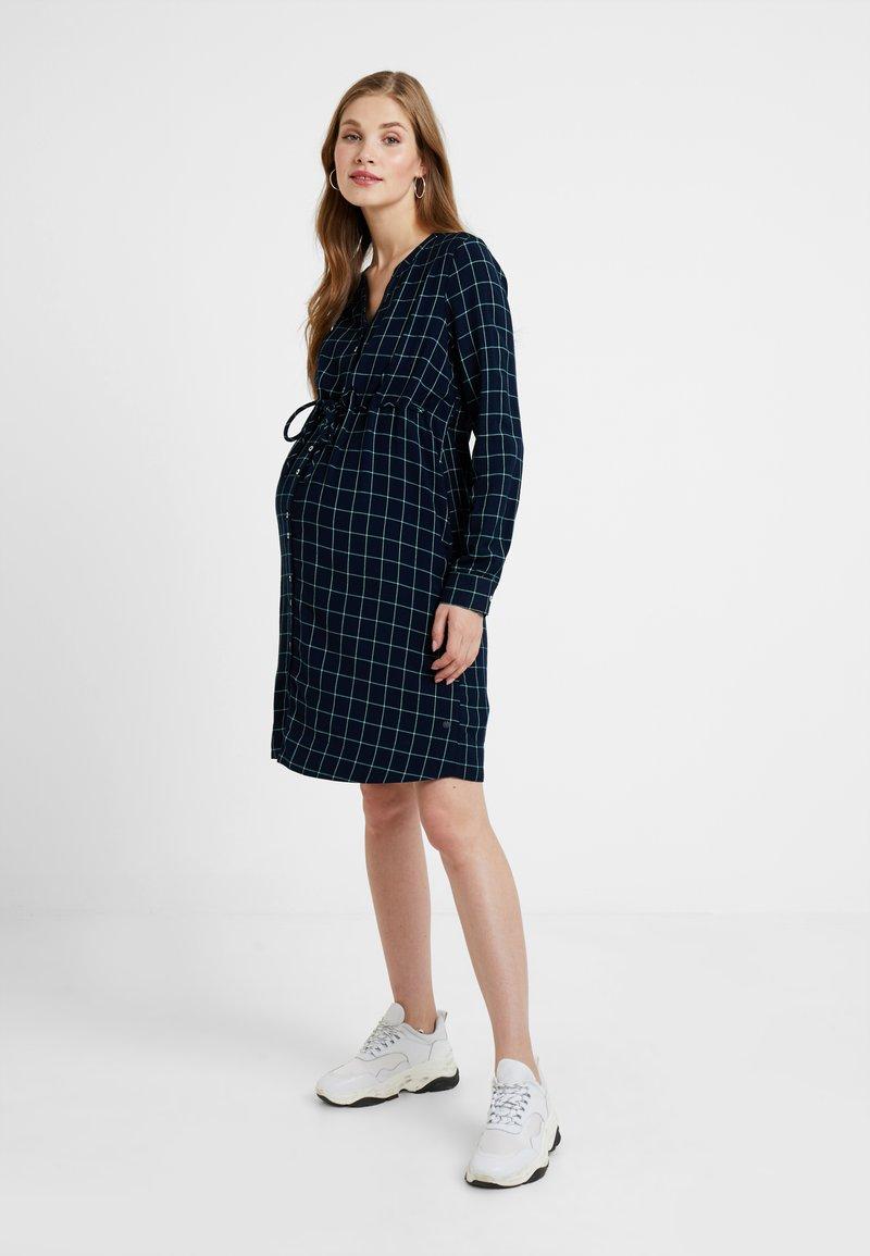 Esprit Maternity - DRESS CHECK - Denní šaty - night blue