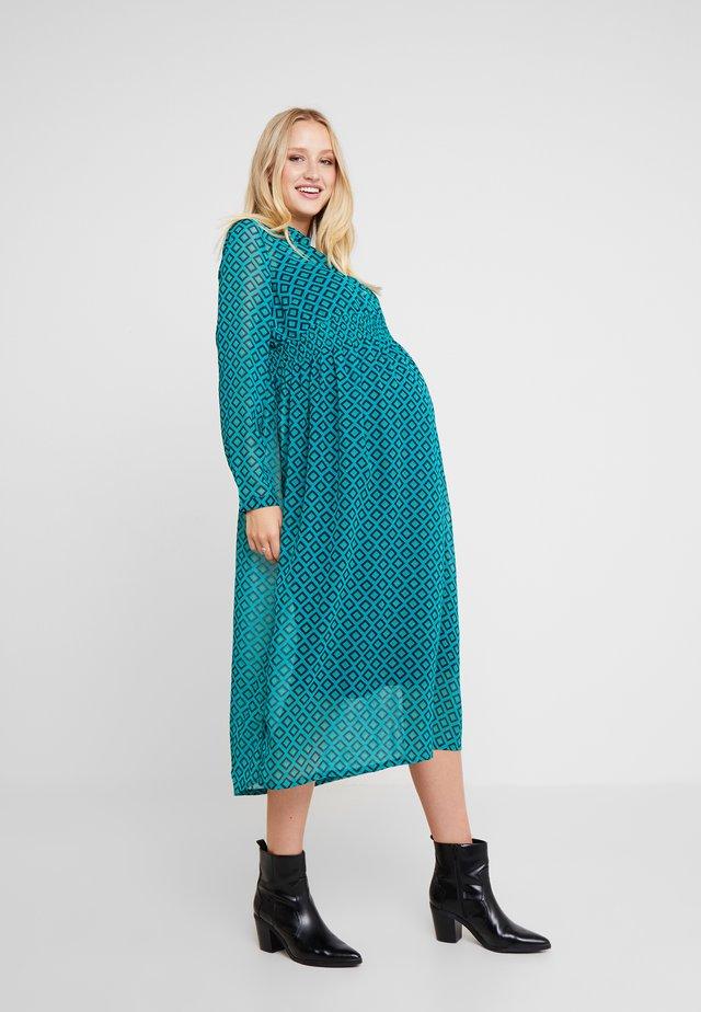 DRESS NURS - Vestido camisero - teal green