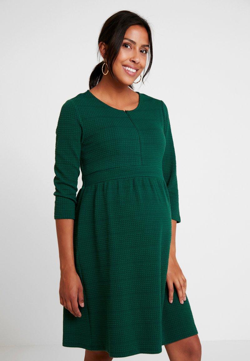 Esprit Maternity - DRESS NURSING 3/4 - Jerseykleid - bottle green