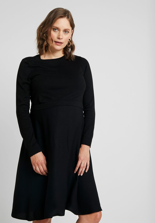 DRESS MIX NURSING - Strickkleid - black
