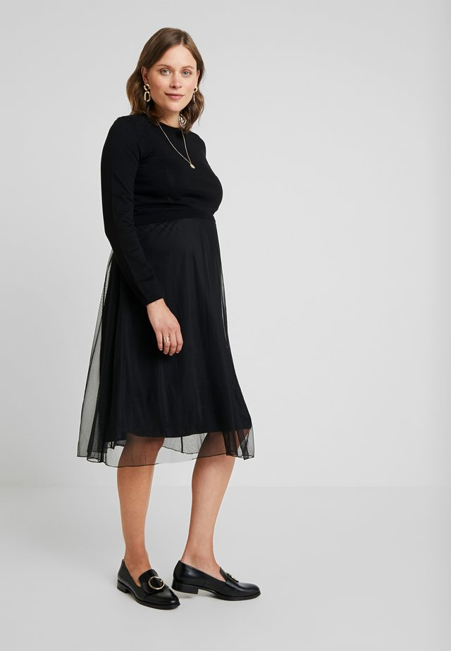 DRESS MIX NURSING  - Freizeitkleid - black