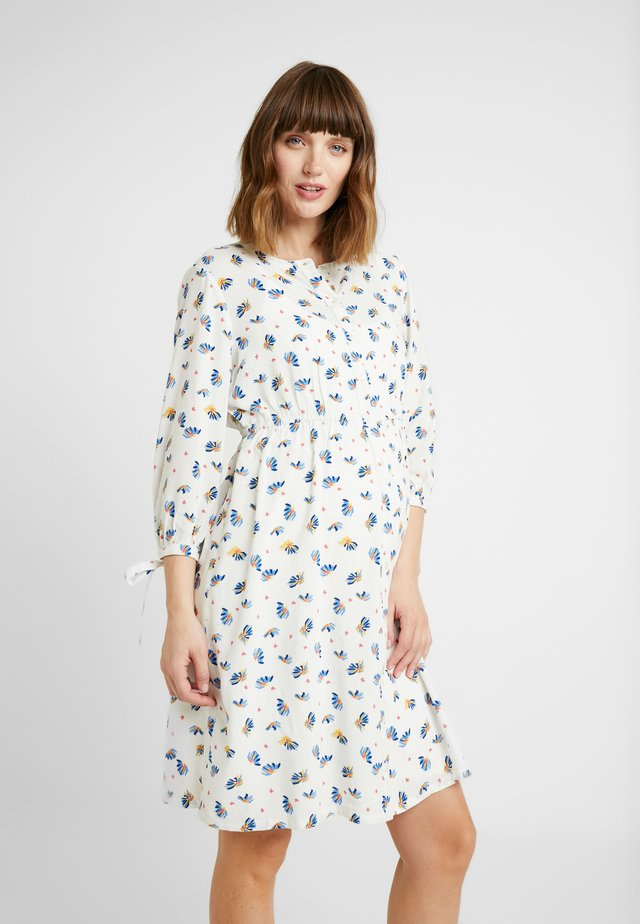 DRESS NURS 3/4 - Shirt dress - offwhite