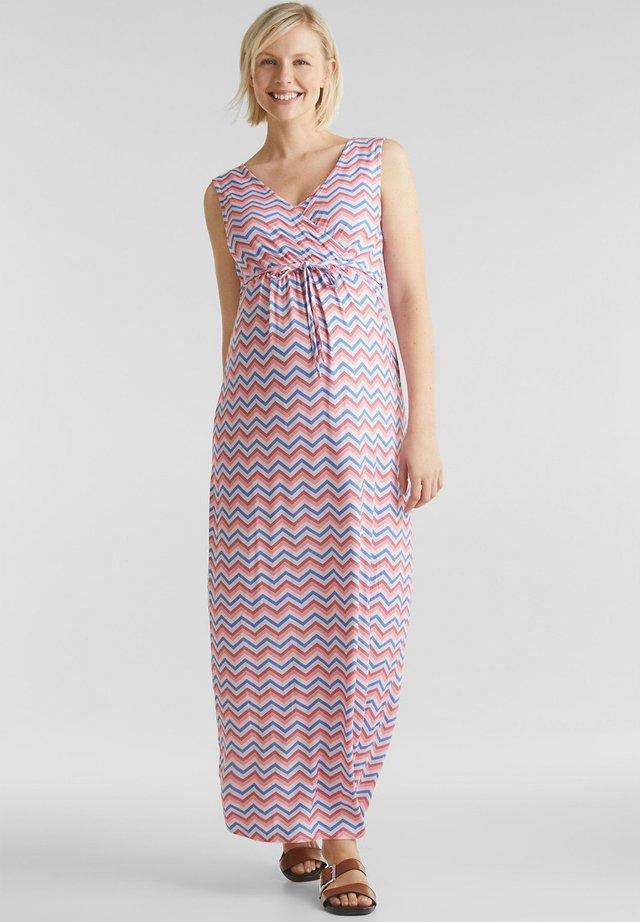 ALLOVER PRINTED NURSING MAXI DRESS - Maxi-jurk - coral