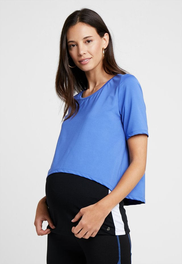 Print T-shirt - bright blue