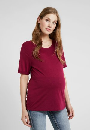T-shirts basic - plum red