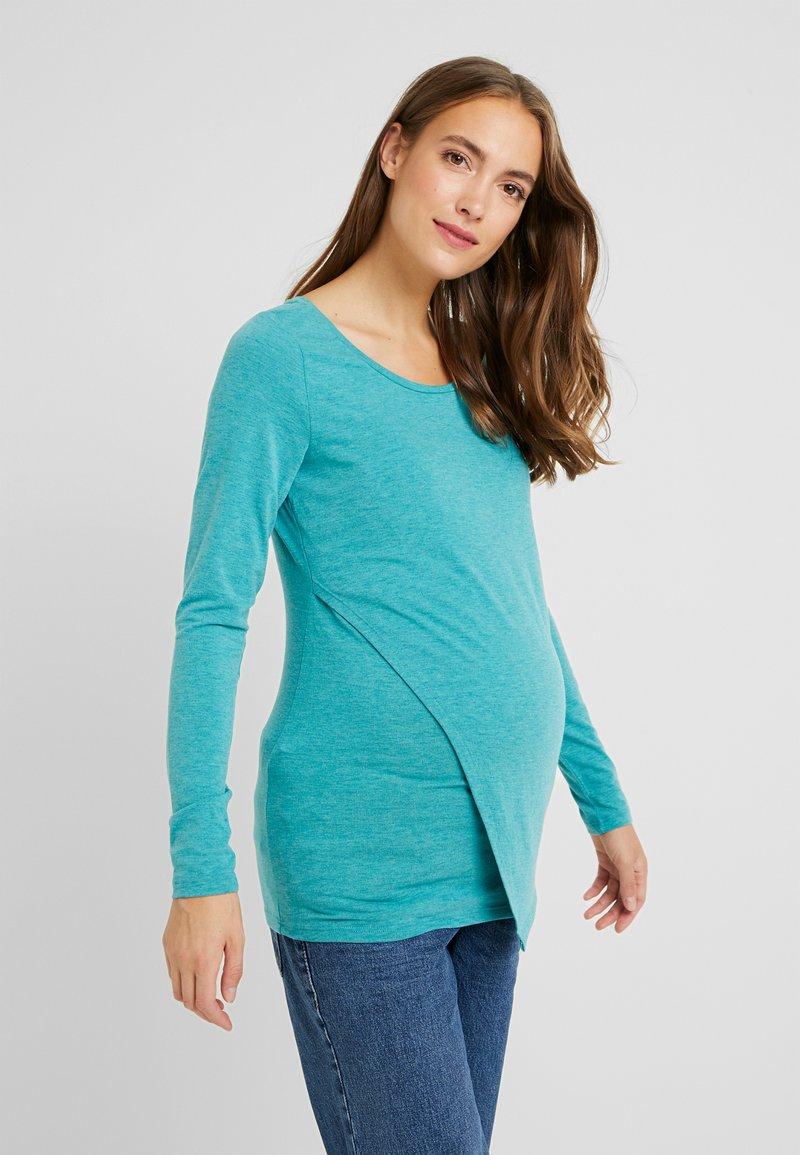 Esprit Maternity - NURSING - Langarmshirt - teal green