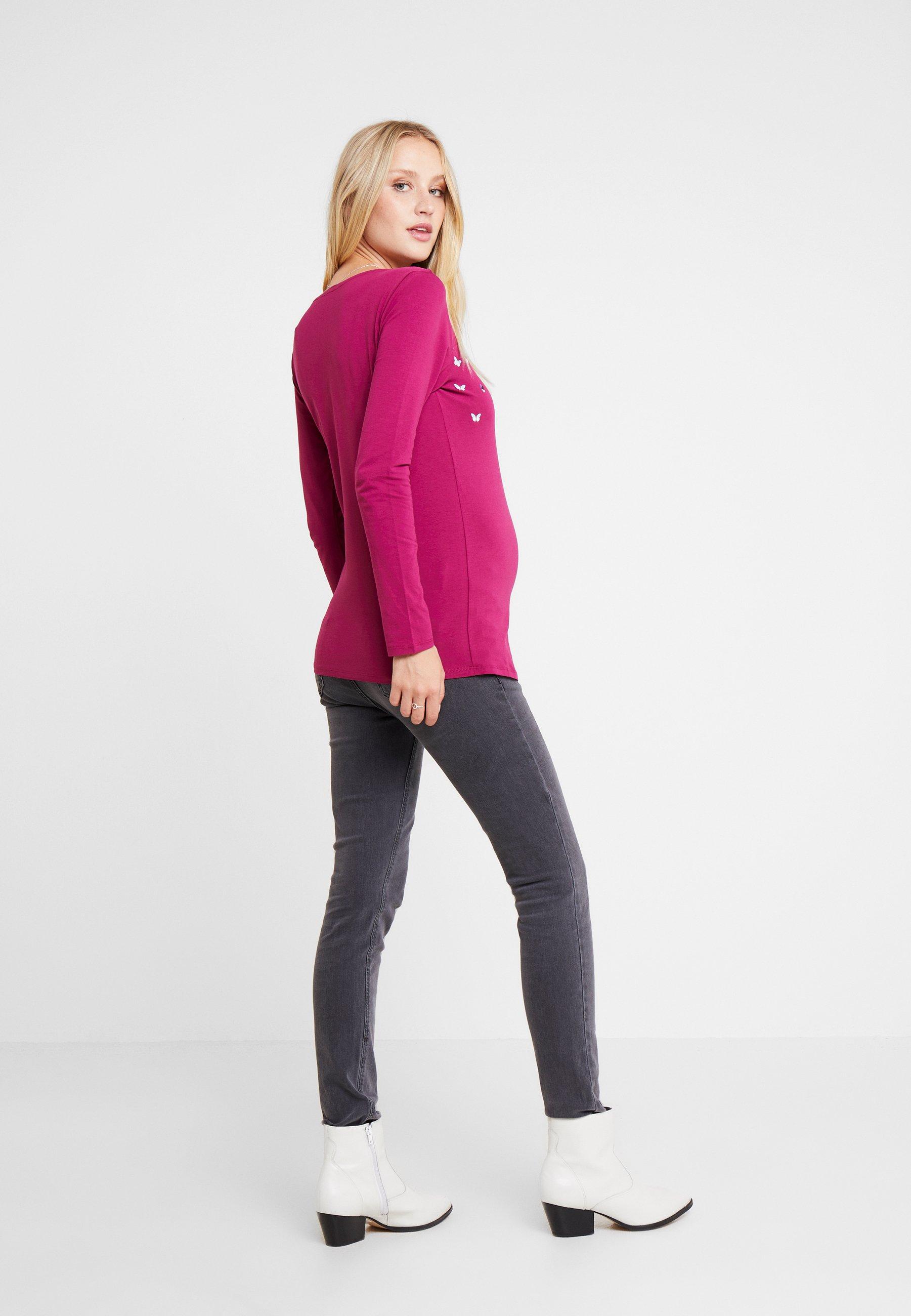 Red À Esprit shirt LonguesPlum Manches T Maternity IYbv6yf7g