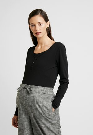NURSING - Topper langermet - black