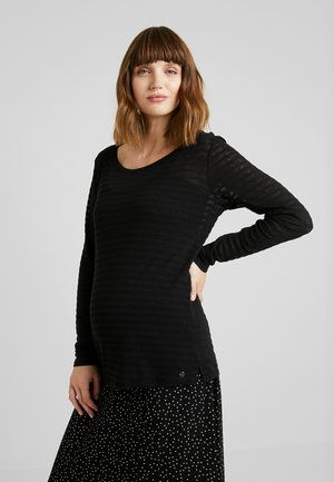 NURSING - Langærmede T-shirts - black