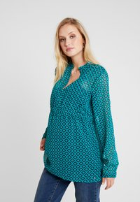 Esprit Maternity - BLOUSE NURSING - Pusero - teal green - 0