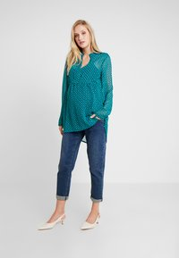 Esprit Maternity - BLOUSE NURSING - Pusero - teal green - 1